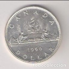 Monedas antiguas de América: MONEDÁ DE 1 DÓLAR DE CANADÁ DE 1966. PLATA. EBC+ WORL COINS-KM#64.1 (ME341). Lote 219079078