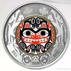 "Moedas antigas da América: CANADA 2020 2 DOLARES ""BILL REID""- COLOR-. Lote 219382968"