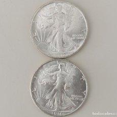 Monedas antiguas de América: MEDIO DOLAR USA 1916/1917 DE DOS CARAS IGUALES CON LA LIBERTAD ANDANDO. Lote 219464842