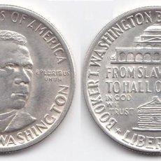 Monedas antiguas de América: ESTADOS UNIDOS - 0.50 DOLAR -1946 - BOOKER T. WASHINGTON - PLATA. Lote 219636510