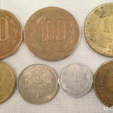 Monedas antiguas de América: 7 MONEDAS DE CHILE DE 1964, 1967, 1971, 1992, 1994, 1997 Y 1998.. Lote 220126196