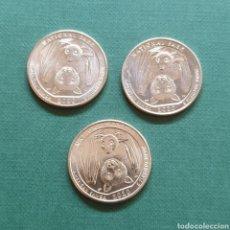 Monedas antiguas de América: USA ¼ QUARTER DÓLAR 2020 - SAMOA AMERICANA - - CECAS D P S – MURCIÉLAGO ANIMAL - SC SIN CIRCULAR. Lote 220795548