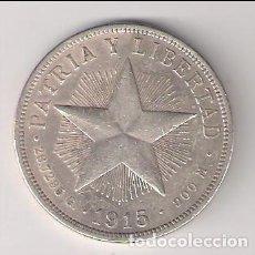 Monnaies anciennes d'Amérique: MONEDA DE UN PESO DE CUBA DE 1915. PLATA. MBC. WORLD COINS-KM#15.1 (ME171). Lote 220846731
