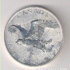 Monnaies anciennes d'Amérique: MONEDA DE 5 DÓLARES (ONZA) DE CANADÁ DE 2014. PLATA. PROOF. (ME878). Lote 220956288