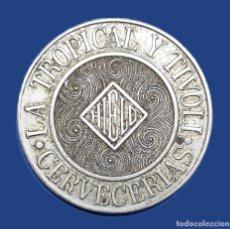 Monedas antiguas de América: CUBA TOKEN CERVECERIAS LA TROPICAL Y TIVOLI LA HABANA. Lote 221257260