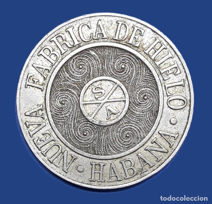 Monedas antiguas de América: CUBA TOKEN CERVECERIAS LA TROPICAL Y TIVOLI LA HABANA - Foto 2 - 221257260