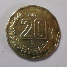 Monedas antiguas de América: KM# 548 ...MONEDA MEXICO ... 20 CENTIMOS 2002 // BC. Lote 221458251