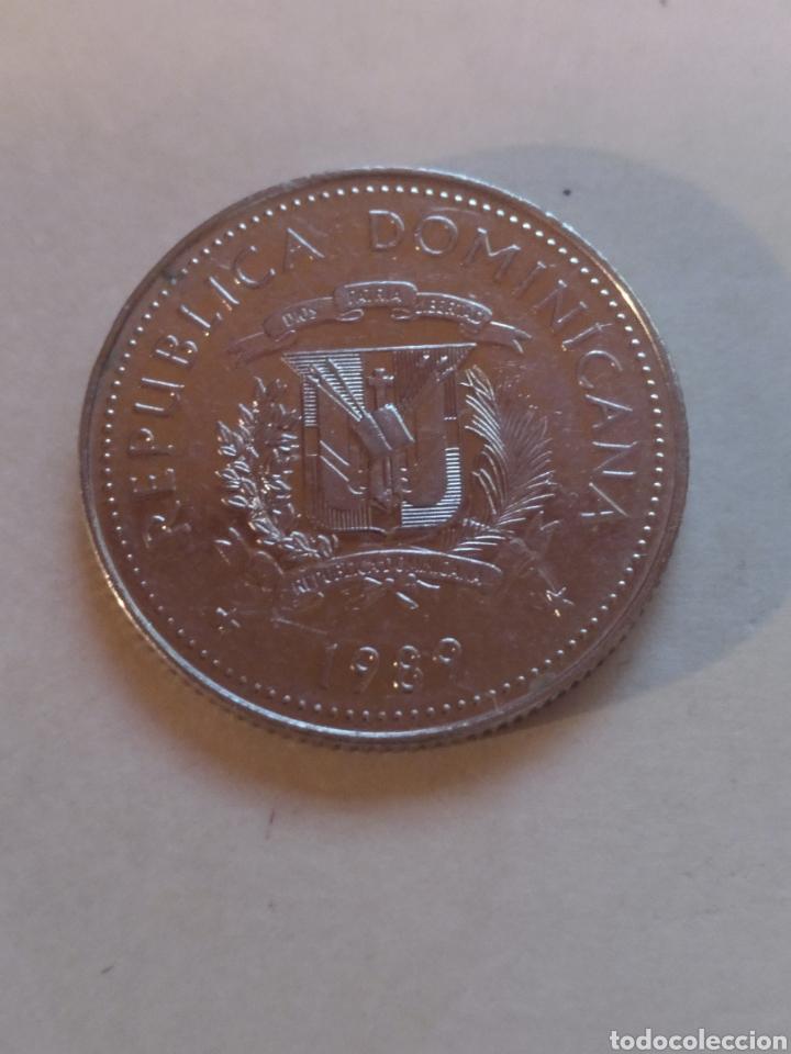 Monedas antiguas de América: República Dominicana 25 centavos 1989 - Foto 2 - 221515540