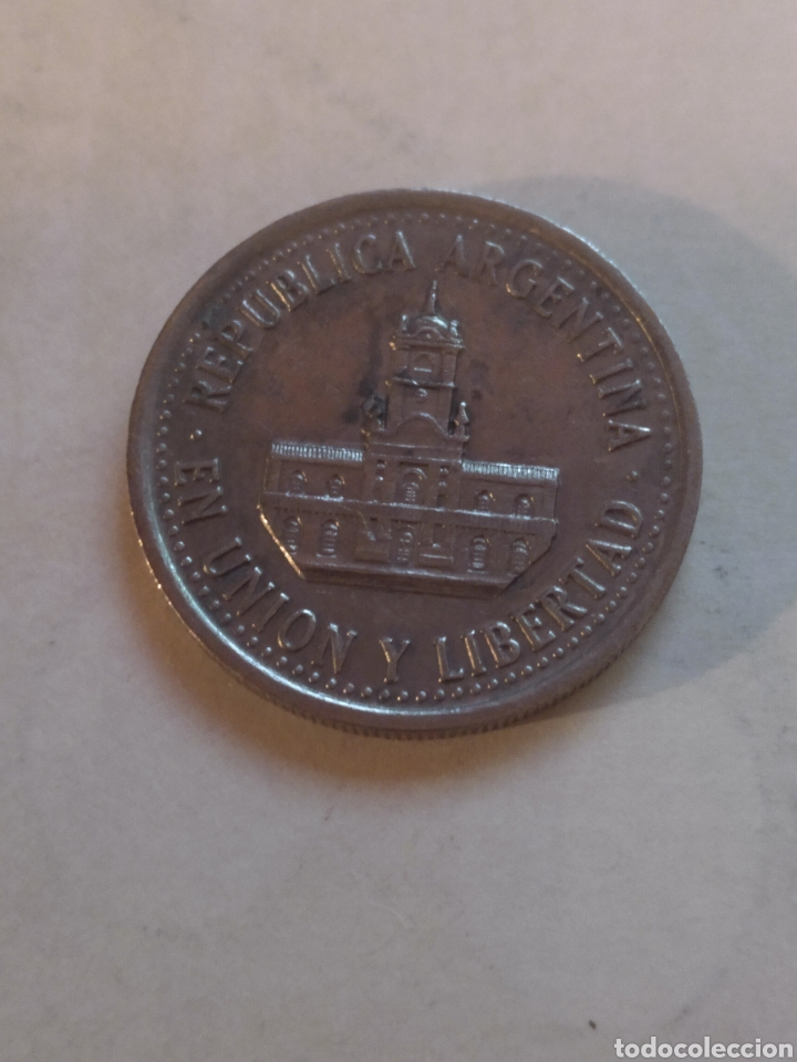 Monedas antiguas de América: Argentina 25 centavos 1994 fecha fina - Foto 2 - 221517576