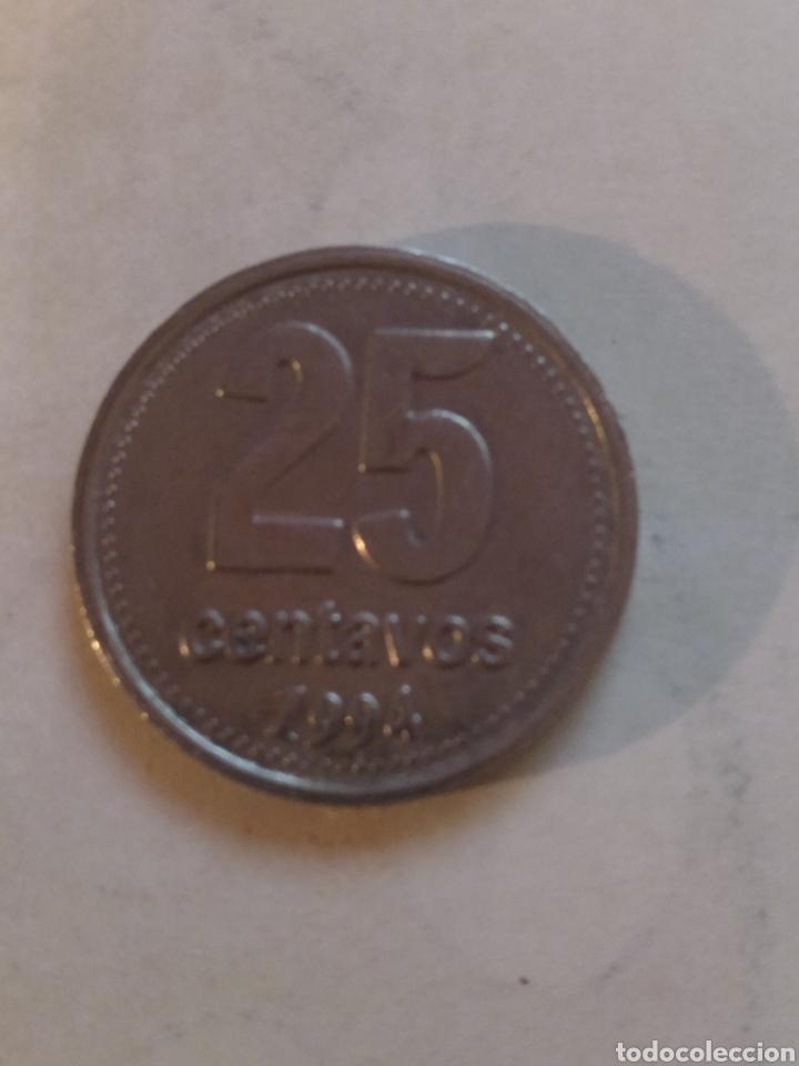 ARGENTINA 25 CENTAVOS 1994 FECHA FINA (Numismática - Extranjeras - América)
