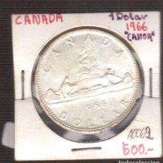 Monedas antiguas de América: MONEDA DE AMERICA DOLAR DE CANADA 1966 PLATA. Lote 221603627