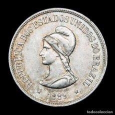 Monedas antiguas de América: BRASIL, 1000 REIS - 1889. PLATA .917 - CRUZ DEL SUR, LIBERTAD.. Lote 221707958