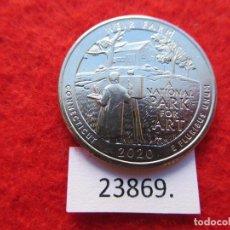 Monnaies anciennes d'Amérique: ESTADOS UNIDOS DE AMERICA , 25 CENTIMOS 1/4, 2020 P, USA , CONNECTICUT, CUARTO, QUARTERS. Lote 221755117