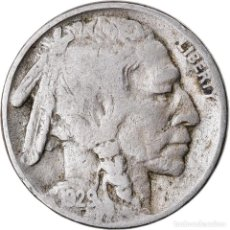 Monedas antiguas de América: MONEDA, ESTADOS UNIDOS, BUFFALO NICKEL, 5 CENTS, 1929, U.S. MINT, PHILADELPHIA. Lote 221976975
