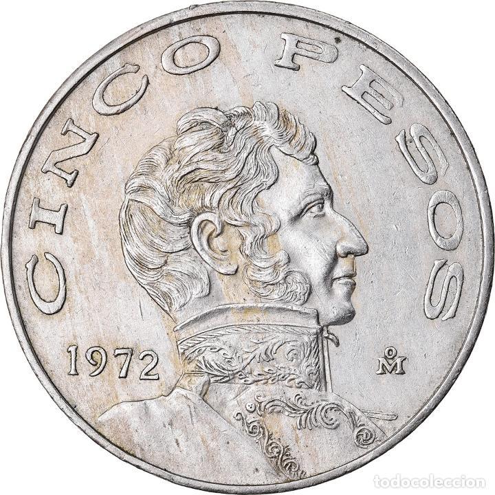 Monedas antiguas de América: Moneda, México, 5 Pesos, 1972, Mexico City, MBC+, Cobre - níquel, KM:472 - Foto 2 - 221980515