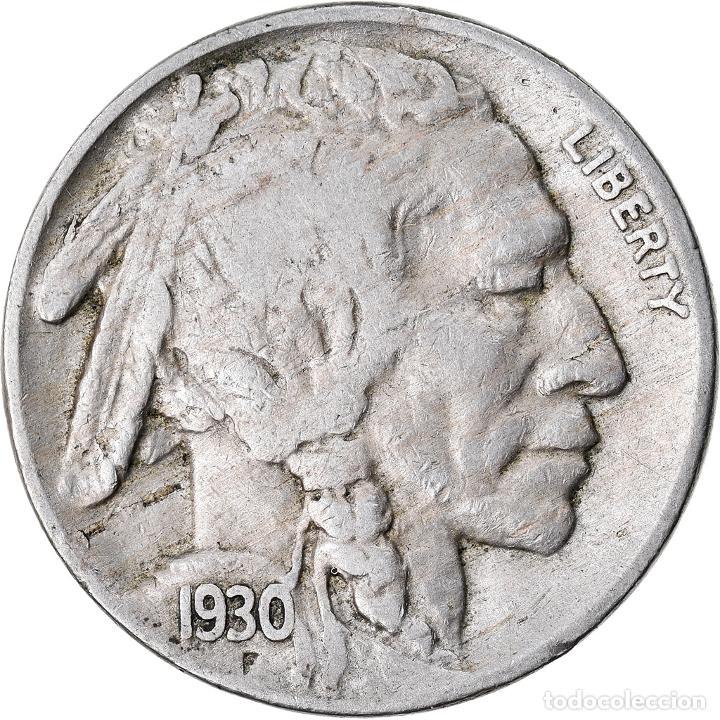 MONEDA, ESTADOS UNIDOS, BUFFALO NICKEL, 5 CENTS, 1930, U.S. MINT, PHILADELPHIA (Numismática - Extranjeras - América)