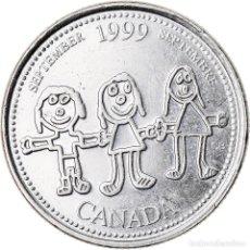 Monedas antiguas de América: MONEDA, CANADÁ, ELIZABETH II, 25 CENTS, 1999, ROYAL CANADIAN MINT, OTTAWA, MBC. Lote 221983776