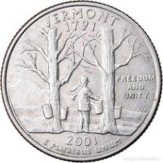 Monedas antiguas de América: MONEDA, ESTADOS UNIDOS, QUARTER, 2001, U.S. MINT, DENVER, MBC, COBRE - NÍQUEL. Lote 221984016