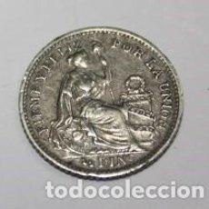 Monedas antiguas de América: 616,, MONEDA DE LA REPULICA DEL PERU 1/2 DINº PLATA AÑO 1913 FG. CONSERVACION MBC+. Lote 222038478