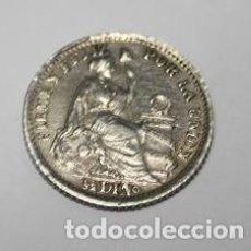 Monedas antiguas de América: 631,, MONEDA DE LA REPULICA DEL PERU 1/2 DINº PLATA AÑO 1906. JF. CONSERVACION EBC+. Lote 222042610