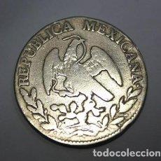 Monnaies anciennes d'Amérique: 645,,RARA MONEDA DE MEXICO 2 REALES PLATA 1849, O.M. ZACATECAS. CONSERVACION MBC. Lote 222173736