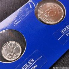 Monedas antiguas de América: BRASIL. 10 CENTAVOS + 10 CRUZADOS. SC. (01). Lote 222291661
