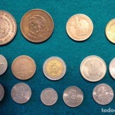 Monedas antiguas de América: LOTE DE 54 MONEDAS PAÍSES AMERICANOS, USA, BRASIL, MÉXICO, CUBA, COLOMBIA, ARGENTINA. Lote 222429466