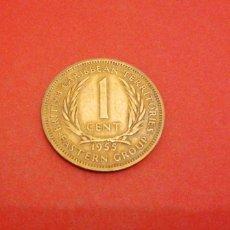 Monedas antiguas de América: 1 CENT DE CARIBE BRITÁNICO 1955. Lote 280121633