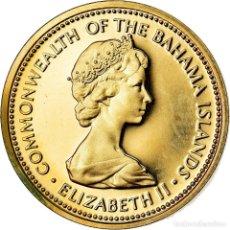 Monedas antiguas de América: MONEDA, BAHAMAS, ELIZABETH II, CENT, 1973, FRANKLIN MINT, U.S.A., FDC, LATÓN. Lote 222719273