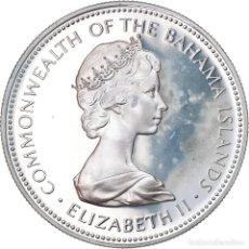 Monedas antiguas de América: MONEDA, BAHAMAS, ELIZABETH II, DOLLAR, 1973, FRANKLIN MINT, U.S.A., FDC, PLATA. Lote 222722843