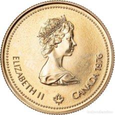 Monedas antiguas de América: MONEDA, CANADÁ, ELIZABETH II, 100 DOLLARS, 1976, ROYAL CANADIAN MINT, OTTAWA. Lote 222723003