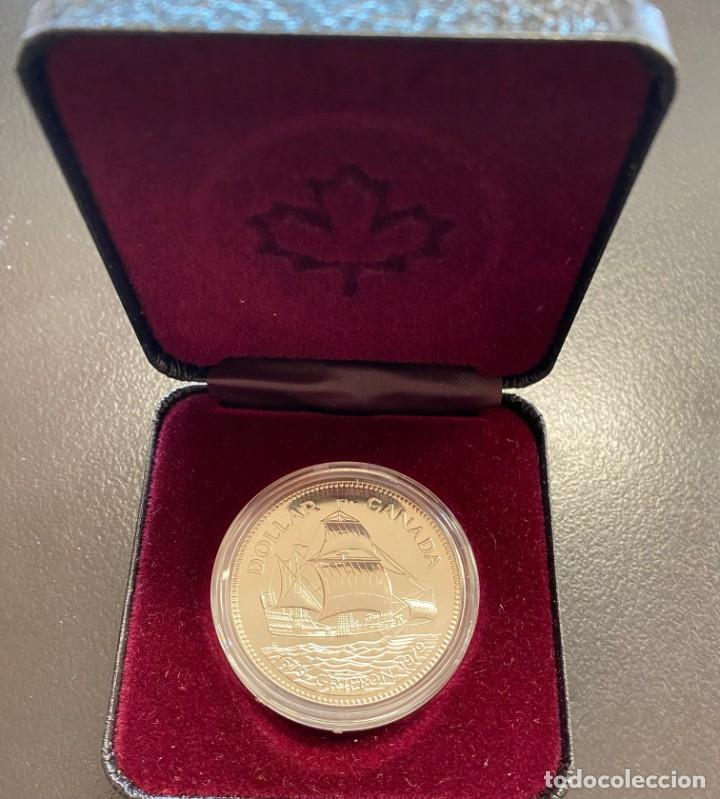 CANADÁ, MONEDA DE 1 DÓLAR DE PLATA DEL AÑO 1979 (Numismática - Extranjeras - América)