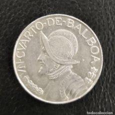 Monedas antiguas de América: MONEDA PANAMÁ UN CUARTAODE BALBOA 1963 PLATA LEY 900. Lote 222748357