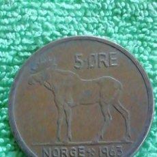 Monedas antiguas de América: 5 ORE NO RIEGOS DE BRONCE. Lote 222799921