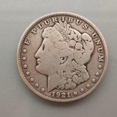 Monedas antiguas de América: MONEDA 1 DOLAR MORGAN 1921 SAN FRANCISCO PLATA USA. Lote 222806155