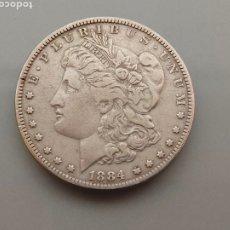 Monedas antiguas de América: MONEDA 1 DOLAR MORGAN 1884 PHILADELPIA PLATA USA. Lote 222806740