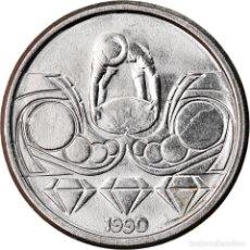 Monedas antiguas de América: MONEDA, BRASIL, 10 CENTAVOS, 1990, BC+, ACERO INOXIDABLE, KM:613. Lote 222801076