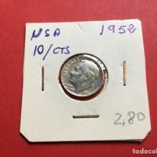 Monedas antiguas de América: 3100 )EEUU,,10 CENT, 1952,, PLATA ,,ROOSEVELT,, EN MUY BUEN ESTADO CONSERVACIÓN. Lote 222886648
