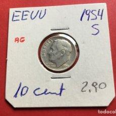 Monedas antiguas de América: 3101 )EEUU,,10 CENT, 1954,,S,, PLATA,, ROOSEVELT,, EN BUEN ESTADO CONSERVACIÓN. Lote 222887716