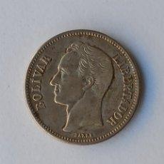 Monedas antiguas de América: 1 BOLÍVAR PLATA 1935. Lote 222889392