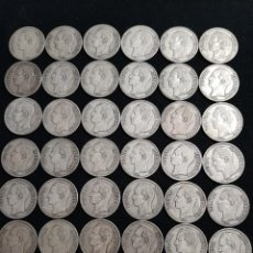 Monedas antiguas de América: 1 KG PLATA VENEZOLANA 39 MONEDAS DE 5 BOLÍVARES PLATA. Lote 224335042