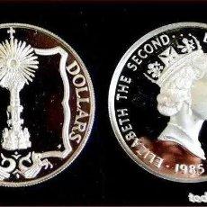 Monedas antiguas de América: ISLAS VÍRGENES BRITÁNICAS - 20 DOLLARS 1985 PLATA. MONEDA DE PLATA. Lote 224480617