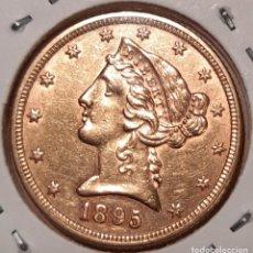 Monedas antiguas de América: GOLD 5 DOLLAR 1895 UNITED STATES. EXCELLENT! 5 DÓLARES DE ORO 1895 ESTADOS UNIDOS. EXCELENTE!. Lote 224579256