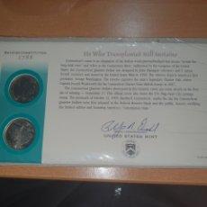 Monedas antiguas de América: SOBRE 1 DÍA 2 MONEDAS CONNECTICUT QUARTER 1999 CECAS DENVER Y FILADELFIA. Lote 224730697
