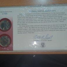 Monedas antiguas de América: SOBRE PRIMER DÍA DE CIRCULACIÓN 2 MONEDAS QUARTER DE GEORGIA CECA DENVER Y FILADELFIA 1999. Lote 224730935