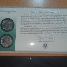 Monedas antiguas de América: SOBRE PRIMER DÍA 2 MONEDA THE MARYLAND CECA DENVER Y FILADELFIA 2000. Lote 224731836