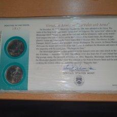 Monedas antiguas de América: SOBRE PRIMER DÍA MISSISIPI 2 MONEDA CECA DENVER Y FILADELFIA 2002. Lote 224768638