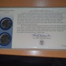 Monedas antiguas de América: SOBRE PRIMER DÍA TENNESSEE 2 MONEDA CECA DENVER Y FILADELFIA 2002. Lote 224769285