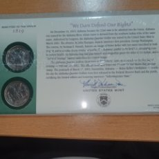 Monedas antiguas de América: SOBRE PRIMER DÍA 2 MONEDA ALABAMA CECA DENVER Y FILADELFIA 2003. Lote 224770425