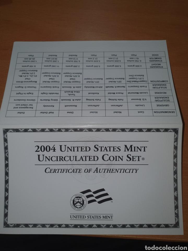 Monedas antiguas de América: 2004 united states mint uncirculated coin set philadelfia - Foto 2 - 224773073